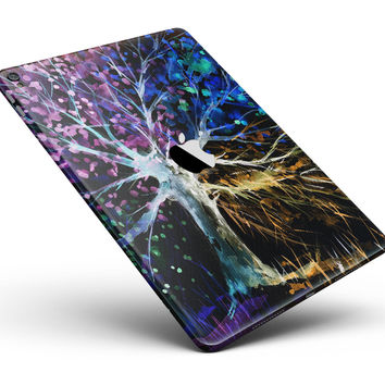 "Inverted Abstract Colorful WaterColor Vivid Tree Full Body Skin for the iPad Pro (12.9"" or 9.7"" available)"