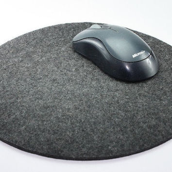 Round Mouse Pads in 5mm Thick Virgin Merino Wool Felt