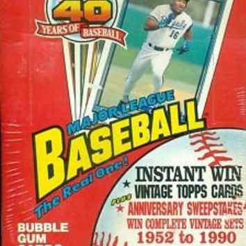 Topps 40 Years of Baseball Sealed Box 1991 Vintage Cards Anniversary 36 Packs