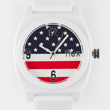 Flex Venice American Flag Watch Red/White/Blue One Size For Men ...