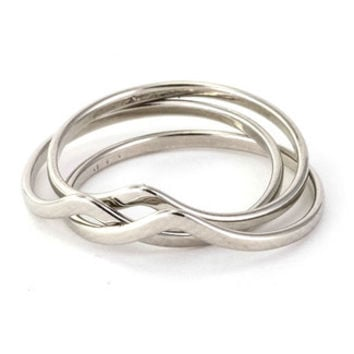 Stackable Wishbone Chevron Rings- Set of 3