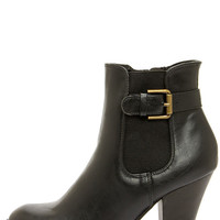 Soda Magic Black High Heel Ankle Boots