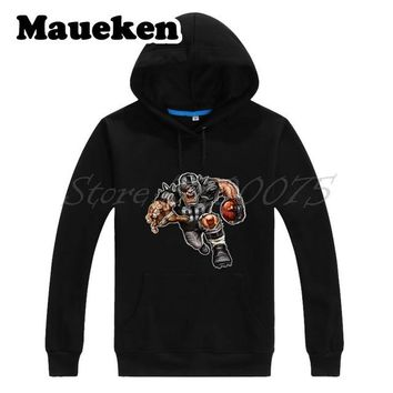 Men Hoodies Strong Oakland Rabid Sweatshirts Hooded Thick Lace-up for Raider fans gift Autumn Winter W17102201