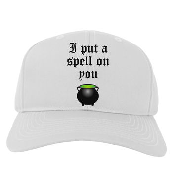 I Put A Spell On You Witches Cauldron Halloween Adult Baseball Cap Hat