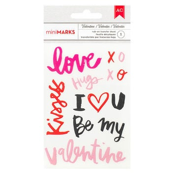 Rub-ons - American Crafts, Valentine, Words