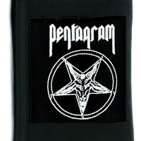 Pentagram Baphomet Tri-fold Wallet w/ Chain Occult Clothing