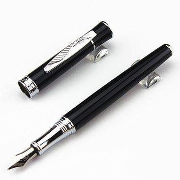lot PICASSO Luxury Black Senior Nib 0.5mm Fountain Pen Metal Ink Pen for Writing Couple Pens for Gift