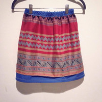 Girl's Hmong Print Skirt by Xweets on Etsy