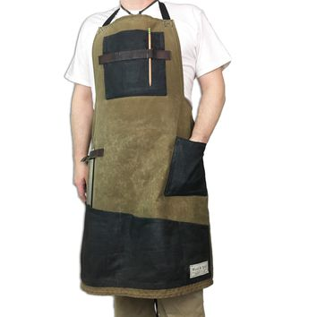 The Edison Apron - Waxed Canvas, Heavy Duty Shop Apron