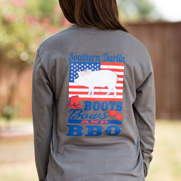 Southern Darlin Long Sleeve-Boots, Bows & BBQ