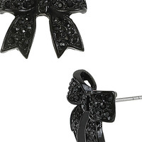 BetseyJohnson.com - JET SET BOW EARRING JET