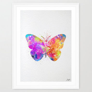 Butterfly Watercolor illustration Art Print,Nursery/Kids Art Print,Wedding,Birthday Gift, #242