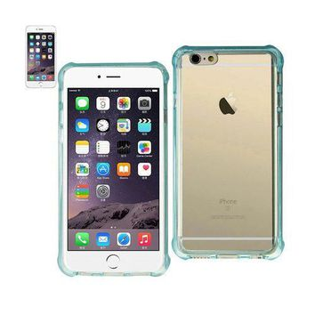 REIKO IPHONE 6 PLUS MIRROR EFFECT CASE WITH AIR CUSHION PROTECTION IN CLEAR NAVY