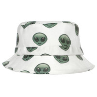 ALIEN EMOJI BUCKET HAT