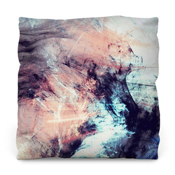 Marbled Glow Throw Pillow