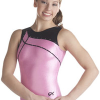 Delicate Pink Tank Leo with Zig Zag Trim from GK Elite