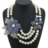 Prissy Pearl Statement Necklace