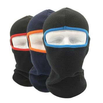 New Hot 3 In 1 Full Face Mask Caps Men Women Thermal Warm Fleece Snood Scarf Neck Warmer Beanie Ski Balaclava Hat W0