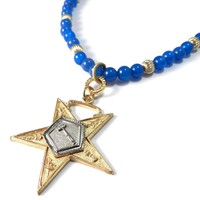 Order of the Eastern Star - Blue Gemstone Star Medal
