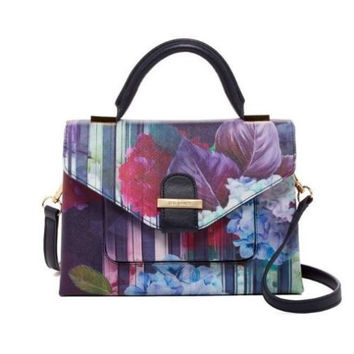 Ted Baker London Candra Hydrangea Floral Satchel Shopper