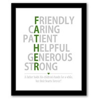INSTANT DOWNLOAD, Father's Day Gift, Dad Gift, Father Of The Bride Gift, Birthday Gift For Dad, New Dad Gift, Wedding Gift For Dad, Green