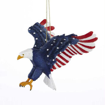 6 Christmas Ornaments - Stars And Stripes Bald Eagle