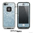 The Sparkly Silver Sequence V1 Skin for the iPhone 4 or 5 LifeProof Case