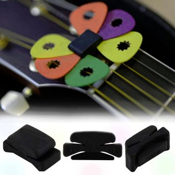 3 pcs Professional 25 x 11 x 11mm Guitar HeadStock Pick Holder Rubber Musical instruments Hot Worldwide