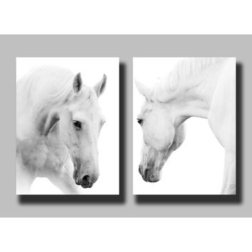 2 Panels Canvas Wall Art Prints, Giclee Canvas Prints, For Home Decoration, Horse, Canvas Printing (Frame:No)