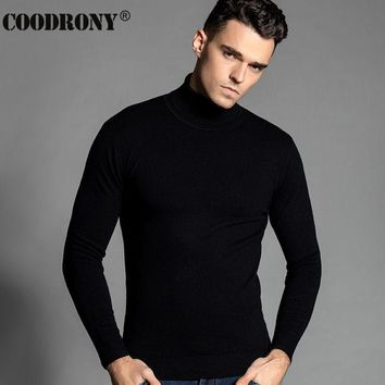 High Quality Winter Christmas Thick Warm Merino Wool Turtleneck Sweater Men Brand 100% Pure Cashmere Pullover Men Plus Size 6305