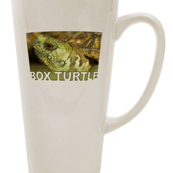 Menacing Turtle with Text 16 Ounce Conical Latte Coffee Mug
