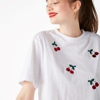 Monki | Tops | Embroidered tee
