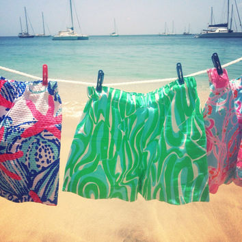 Custom Lilly Pulitzer Finders Keepers Scallop Shorts