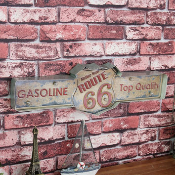 ROUTE 66 Retro Neon Sign Board Led Light for Bar Club Wall Decor Plate Pub Poster