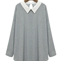 Long-Sleeve Collar Loose Shirt
