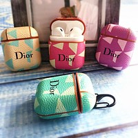 DIOR Hot Sale Chic iPhone Airpods Headphone Case Wireless Bluetooth Headphone Protector Case(No Headphones)