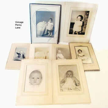 Antique / Vintage Photographs, Black and White Photography, Cabinet Cards, Children / Babies