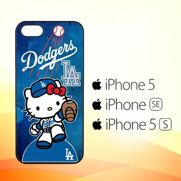 dodgers baseball hello kitty W3317  iPhone 5|5S|SE Case