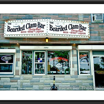Bearded Clam Photography, Ocean City Landmark Photo, Local Bar Photography, Popular Watering Hole, Maryland Home and Condo Decor, Wall Art