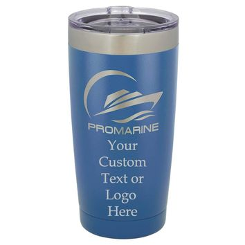 Customized 3D Laser Engraved Personalized Stainless Steel Travel Polar Camel Mug 20oz without Handle (Royal Blue)