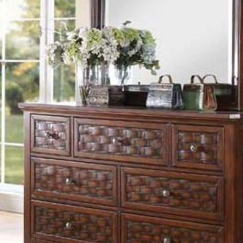 Carmela Walnut Marble Top Dresser 24785
