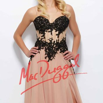 Mac Duggal Black White Red 10020R Dress