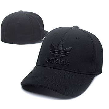 All Black Adidas Baseball Cap Hat Snapback