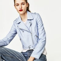 CROPPED BIKER JACKET - NEW IN-TRF | ZARA United States