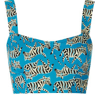 Petite Zebra Cupped Bralet - New In This Week - New In - Topshop USA