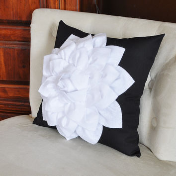 Black White Throw Pillow