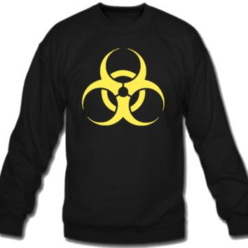 Biohazard danger sign Crew Neck