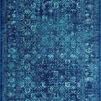 20027 Blue Distressed Vintage Oriental Area Rugs