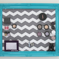 Baroque Magnetic Makeup Organizer, Makeup Holder, Hanging Make-Up Holder, Custom Organizing Frame