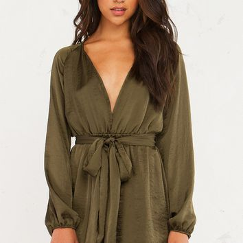 TO DREAMS SATIN LONGSLEEVE DRESS - What's New